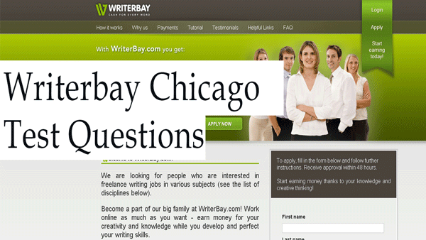 Writerbay Chicago/Turabian Formatting Test