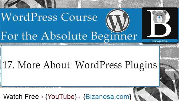 How to install WordPress plugins - wordpress video tutorial