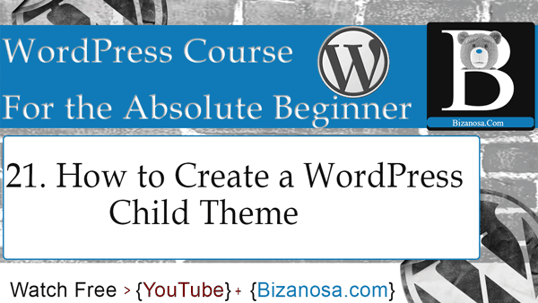 How to create a WodPress child theme