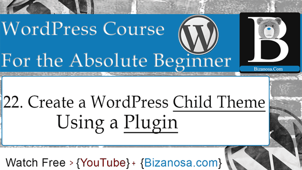 A WordPress child theme plugin