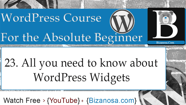 Using widgets in wordpress