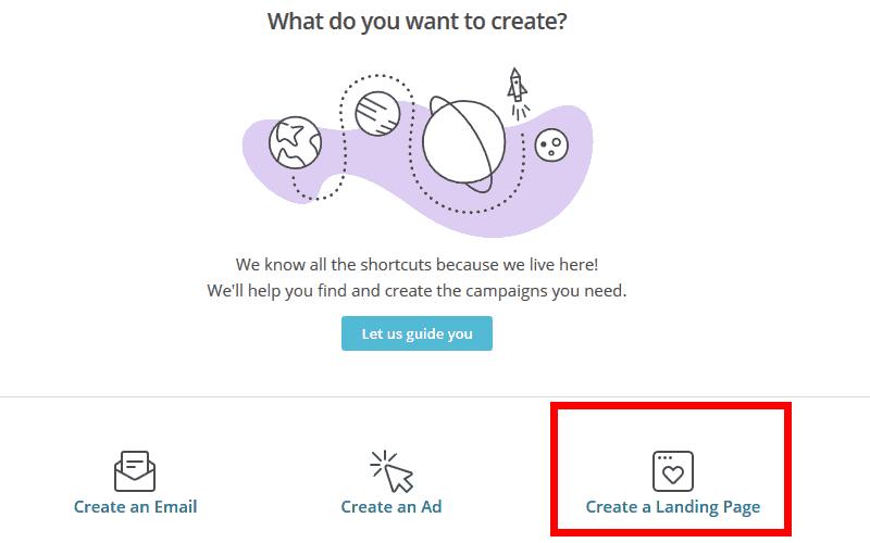 Select Landing page