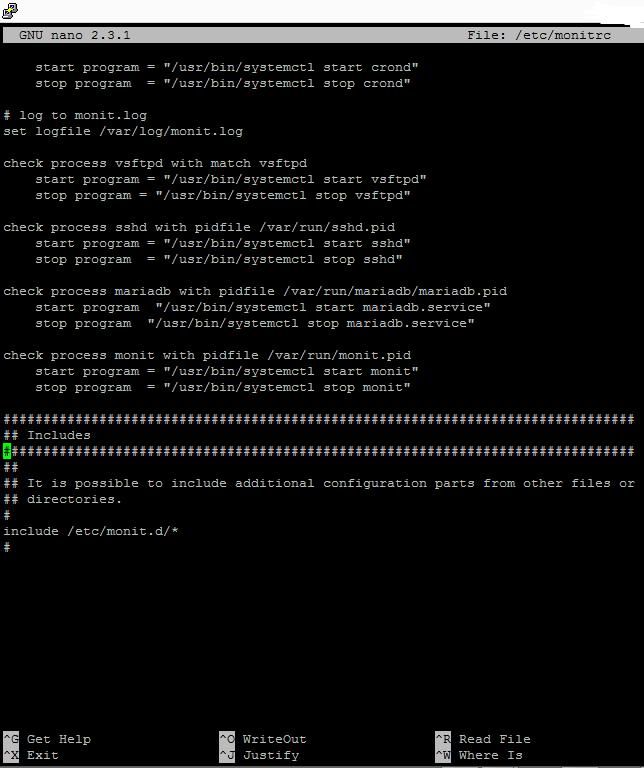 Monit configs for VestaCP Centos7 - Monitor VestaCP processes