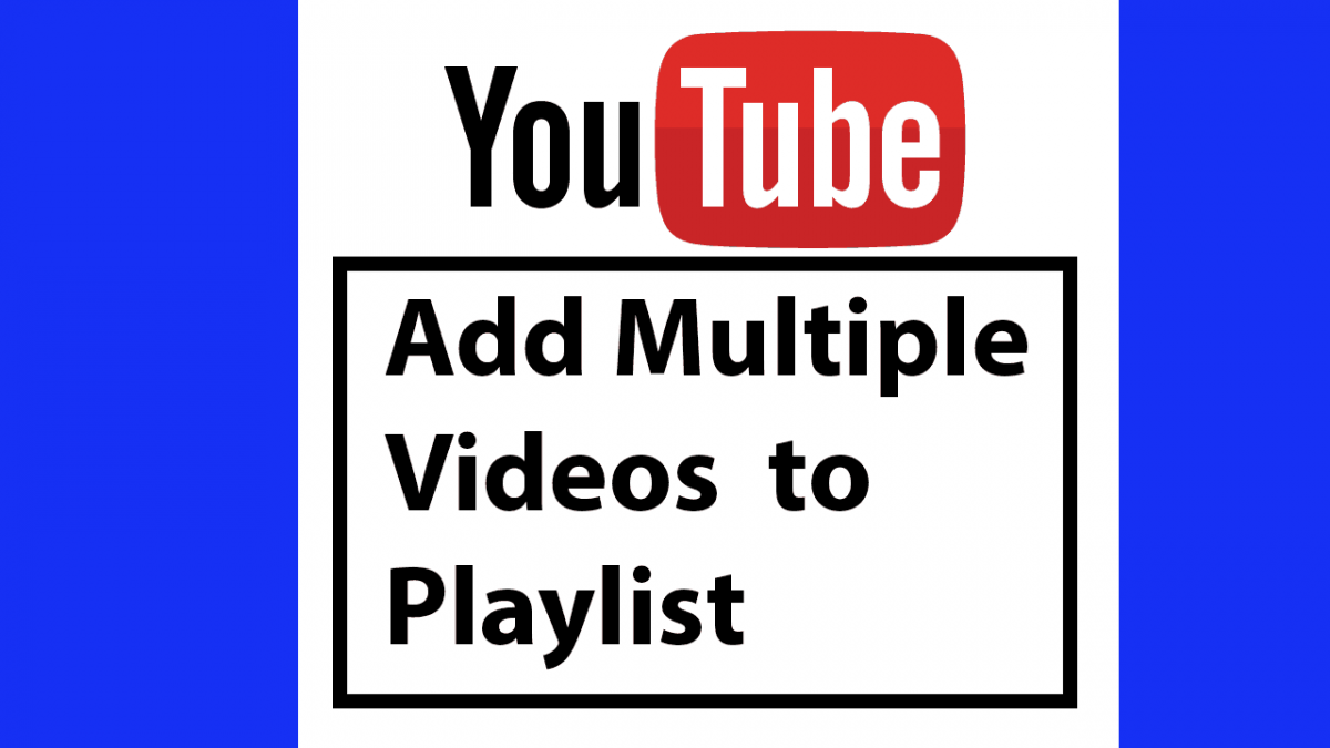 How to add multiple videos to your Youtube playlist.