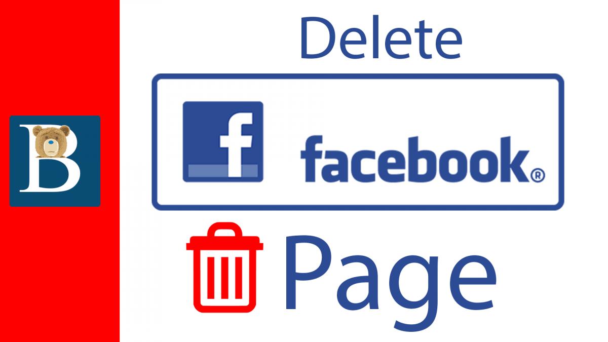 Delete a Facebook Page
