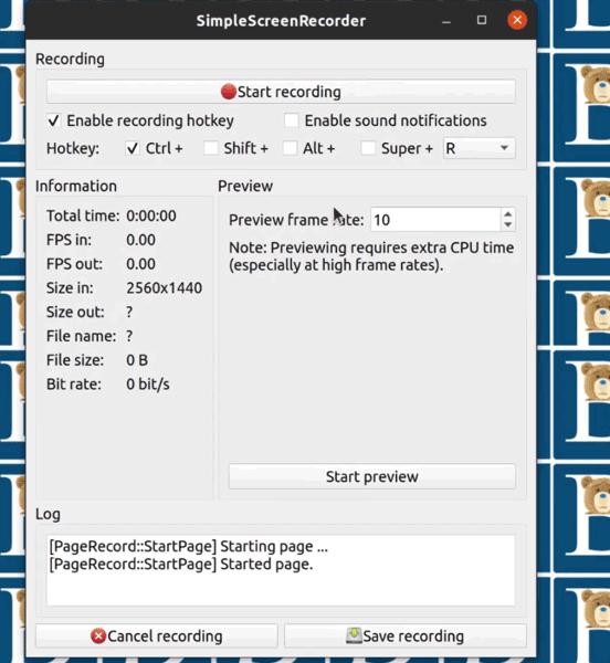 4 Start recording desktop