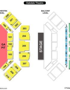 Oakdale theater seating chart also toyota theatre charts  tickets rh bizarrecreations