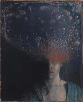 Selfportrait with bacterial cloud