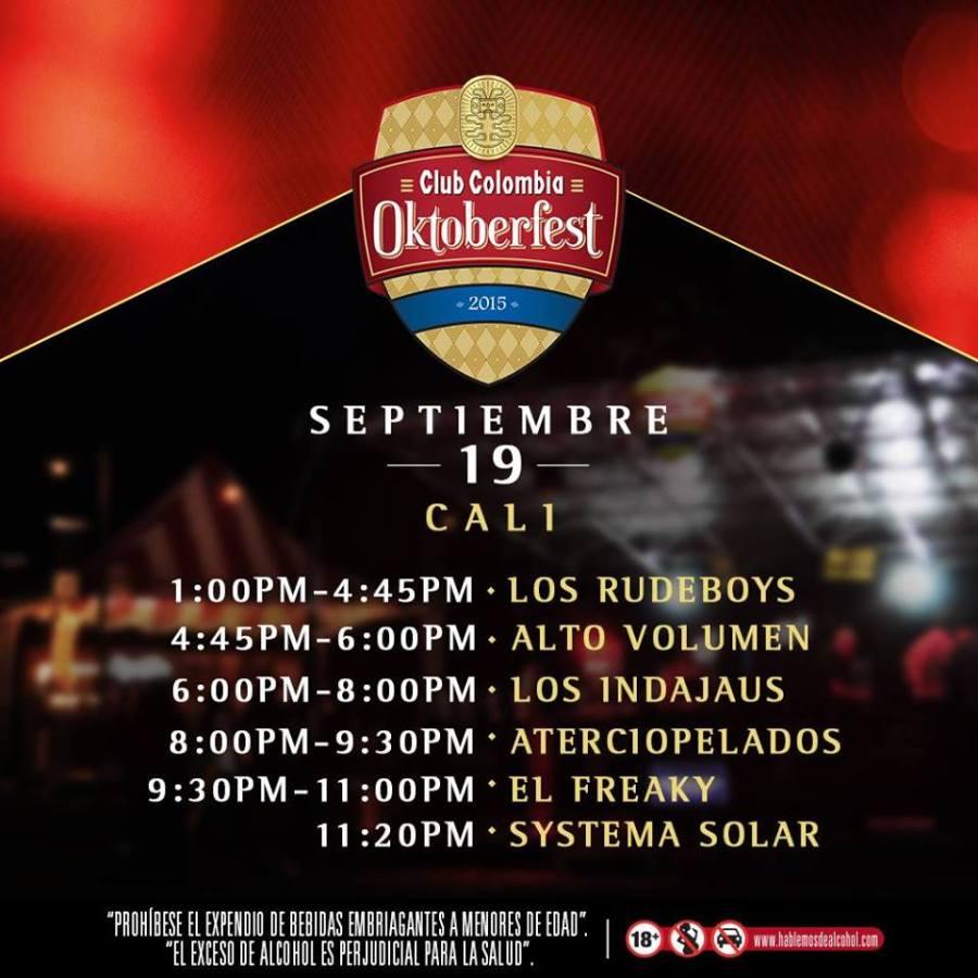 Line Up Oktoberfest