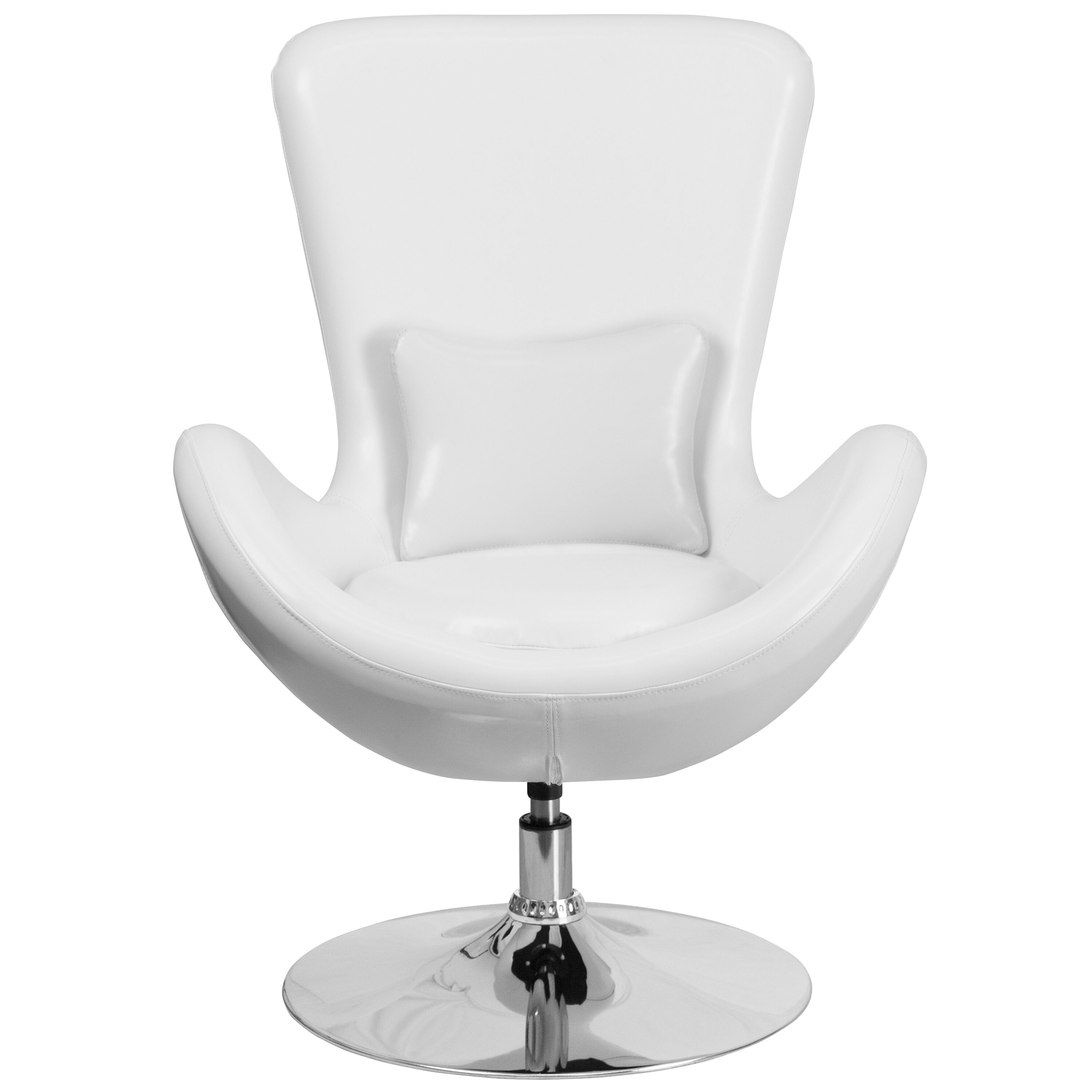 White Leather Egg Chair White Leather Egg Series Chair Ch 162430 Wh Lea Gg