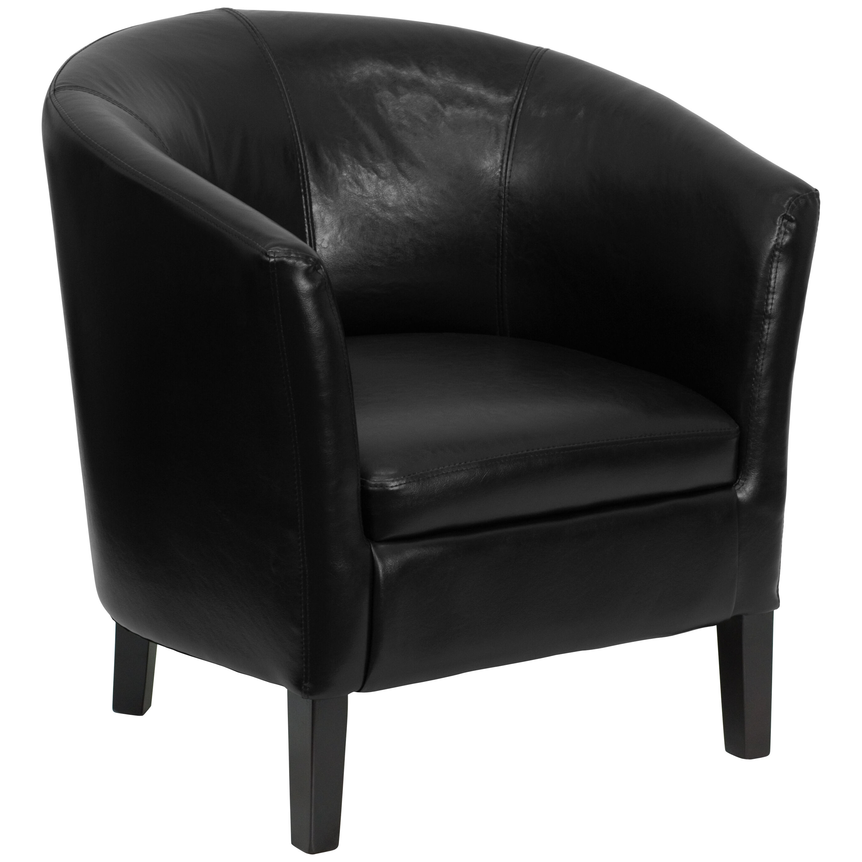 Black Barrel Chair Black Leather Chair Go S 11 Bk Barrel Gg Bizchair