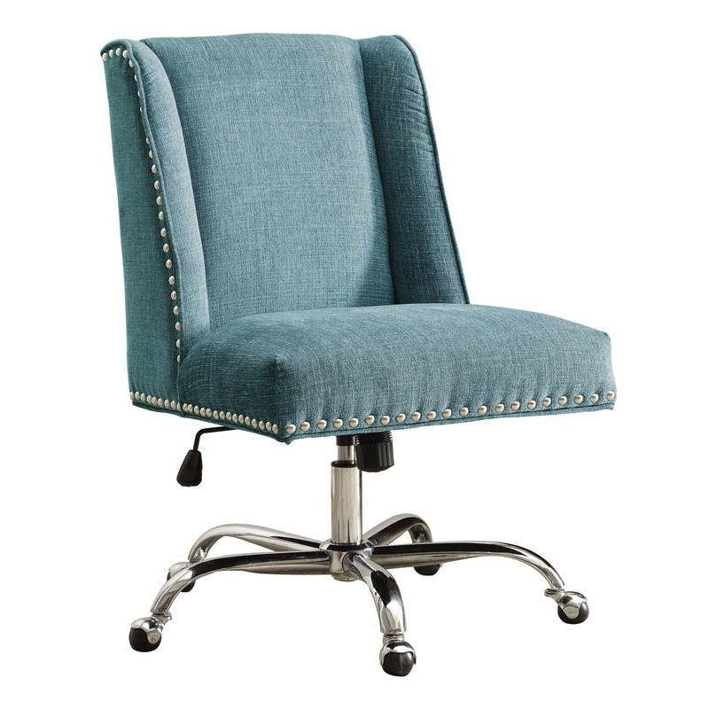 Plush Office Chair Linon 178404aqua01u Lin 178404aqua01u Bizchair