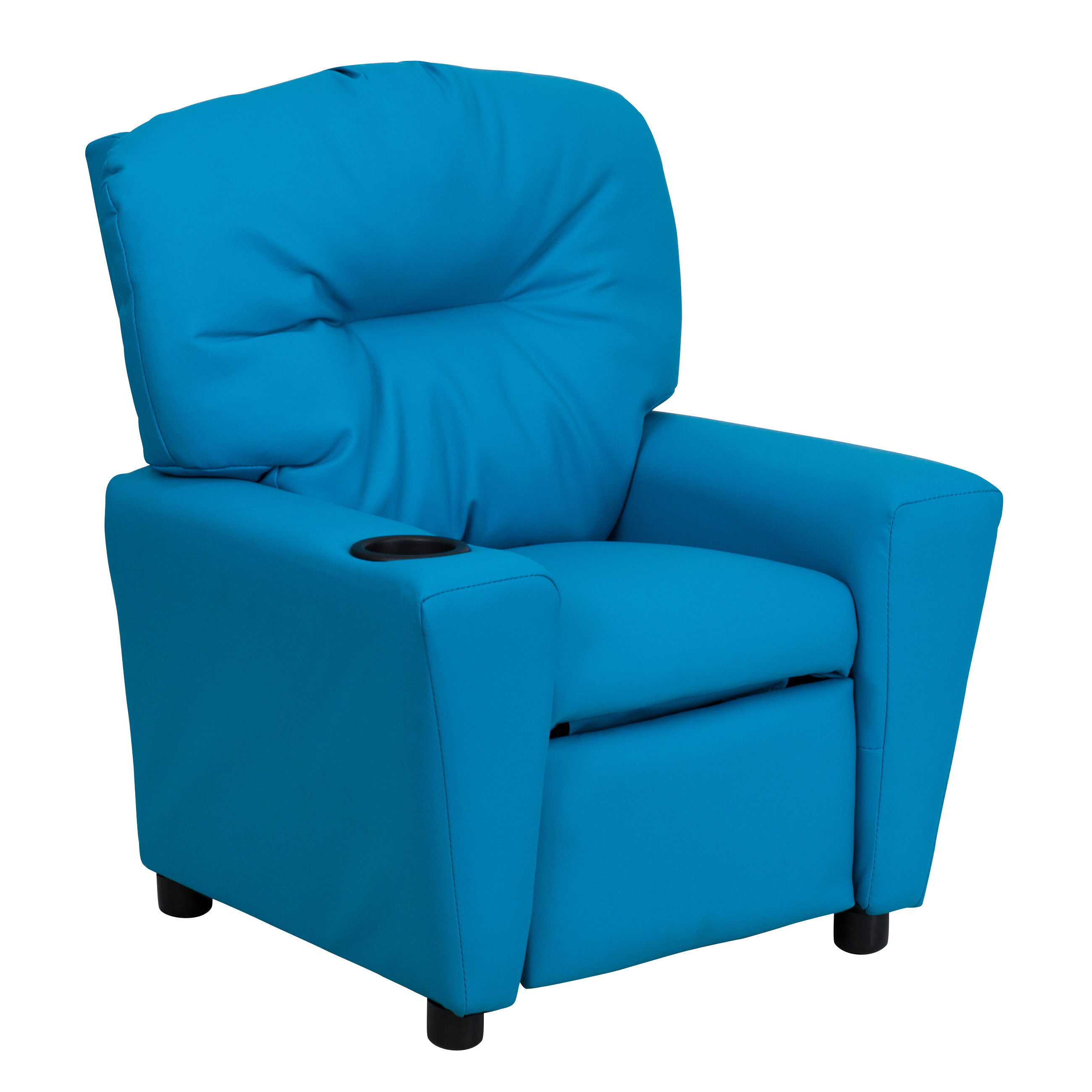 Kids Reclining Chair Turquoise Vinyl Kids Recliner Bt 7950 Kid Turq Gg