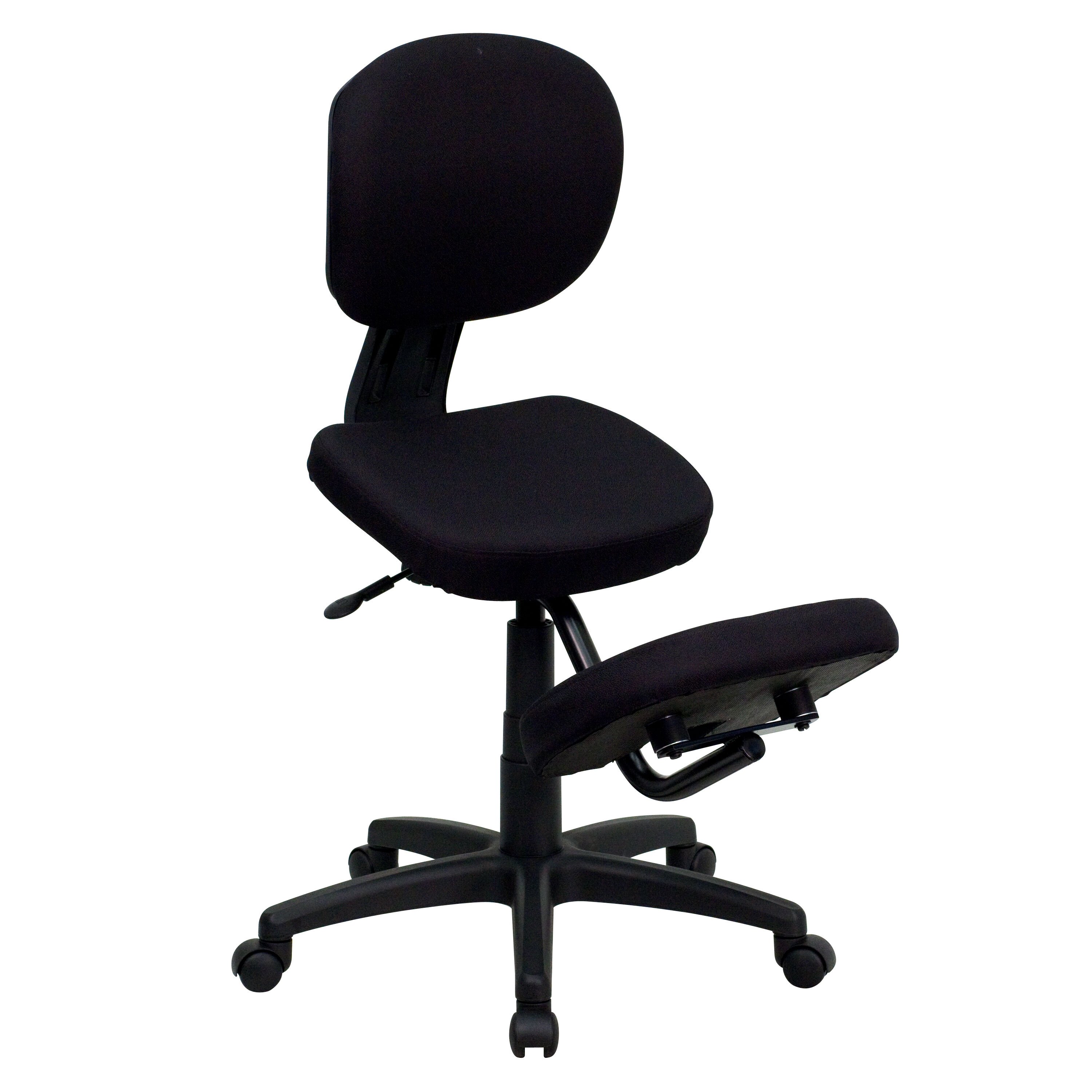 Office Chair Posture Mobile Ergonomic Kneeling Posture Task Office Chair With Back In Black Fabric
