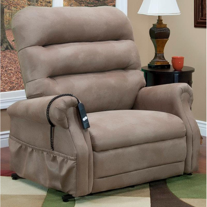 Bariatric Lift Chair Three Way Reclining 600 Lb Capacity Bariatric Power Lift Chair With Matching Arm And Headrest Covers Stampede Mocha Fabric