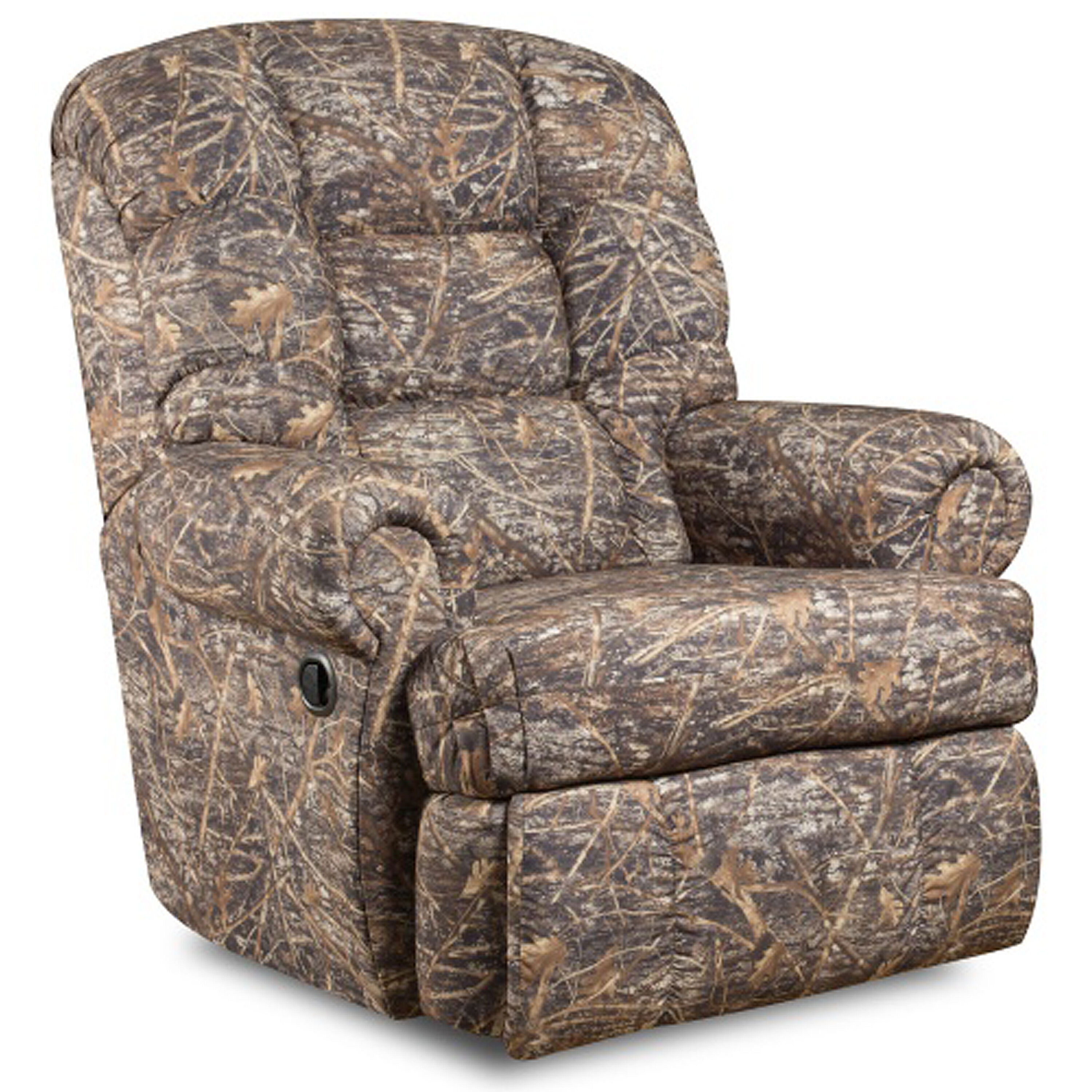Chairs For Tall Man Big Tall 350 Lb Capacity Camouflaged Encore Conceal Brown Fabric Recliner