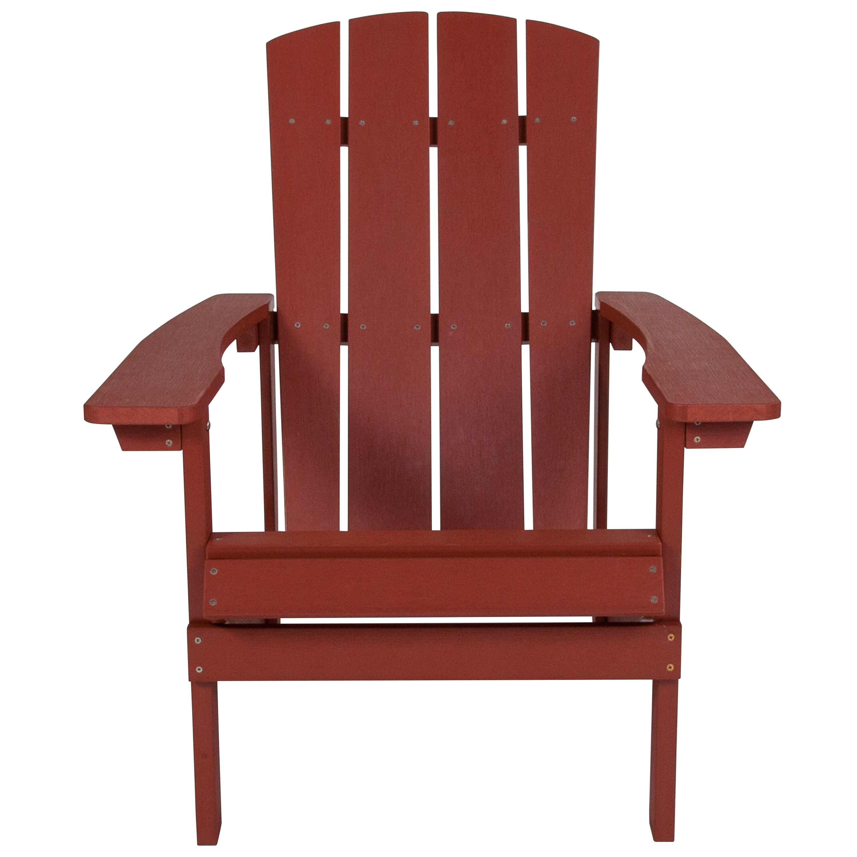 Red Adirondack Chairs Charlestown All Weather Adirondack Chair In Red Faux Wood
