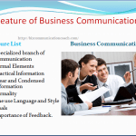 Features of business communication