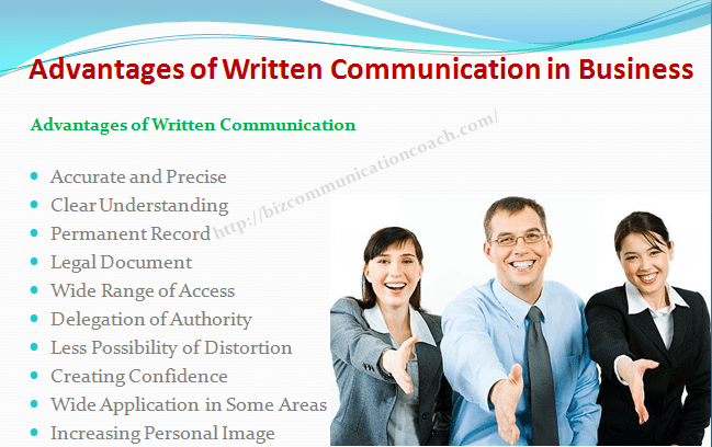 Advantages of Written Communication in Business