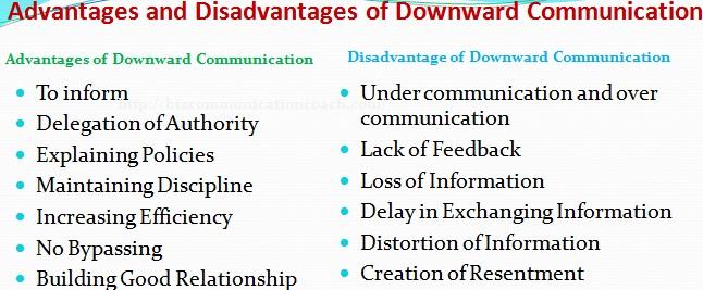 Advantages and Disadvantages of Downward Communication