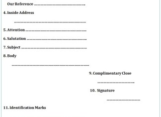 Structure of business letter