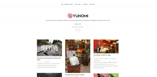 YUNOMI - Japanese tea, matcha, and gourmet food. Shipping from Japan to the world.