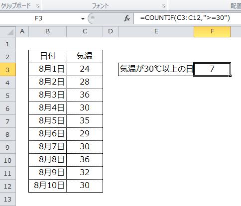 【Excel講座】COUNTIF関数の検索条件に条件式を使い日数を ...