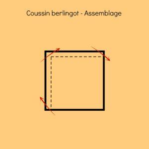 assemblage et couture du coussin berlingot