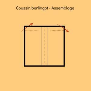 Dernière etape pour savoir comment coudre un coussin berlingot