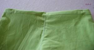 l'ourlet de la ceinture est marqué et épinglé avant couture
