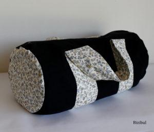 modèle unique, création artisanale de sac de piscine par Bizibul, made in France, fabriqué à Nantes