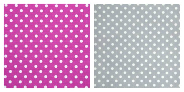 choix des tissus du tipi rose et gris
