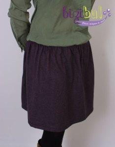 Une jupe pour femme ou fillette avec une ceinture élastique, réalisation de cours de couture chez Bizibul (44) proche de Pornic, La Montagne et Le Pellerin