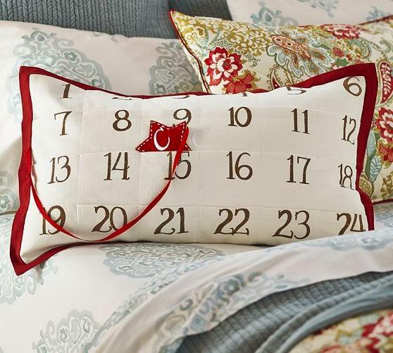 calendrier de l'avent version coussin à étoile.