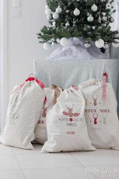 la hotte du père noel à confectionner avec un tutoriel de couture de noel 2019