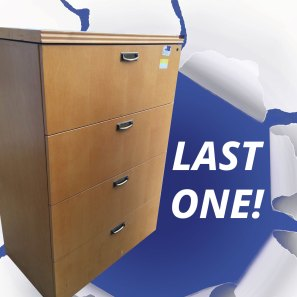 Light Maple Wood Solid Filing Cabinet