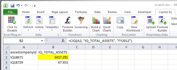 Extending your Excel worksheet formulas via Python, for Capital IQ ...