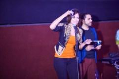 Sara Haider unveiling the music album (USB)