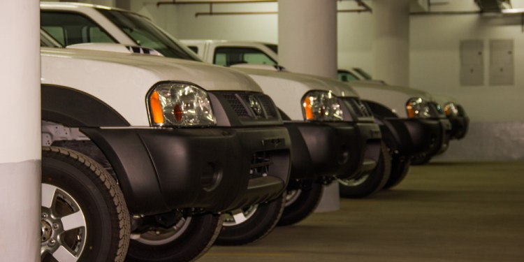 Customs bonded vehicles in a Siginon Group warehouse