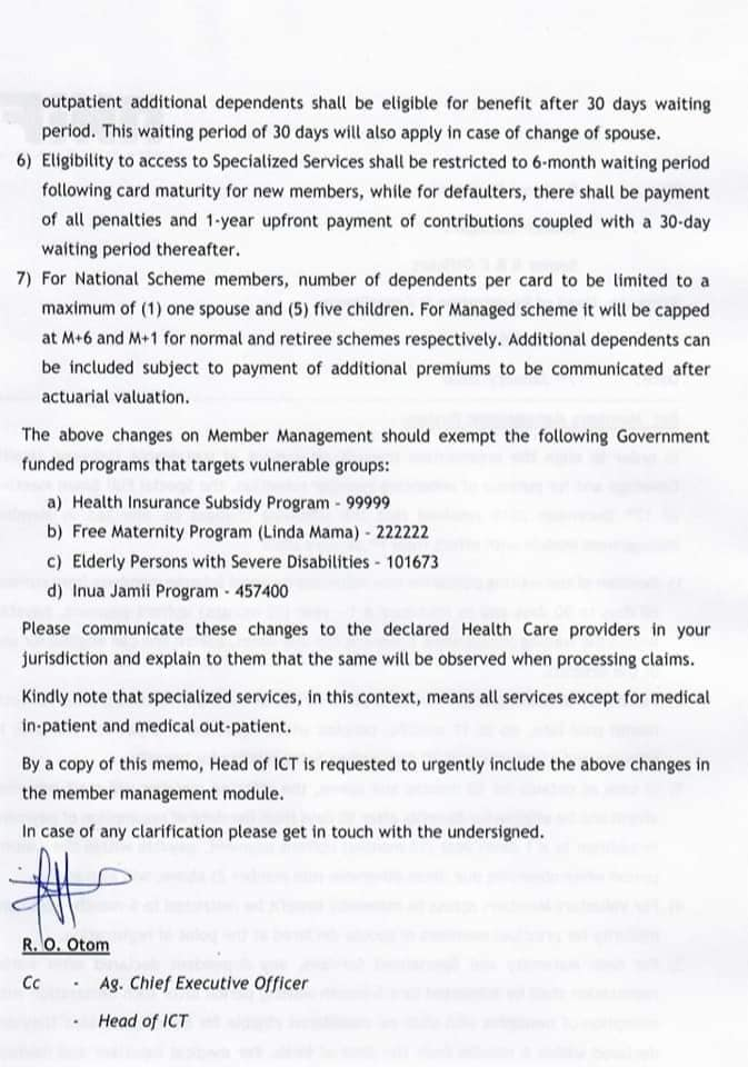 NHIF Requirements