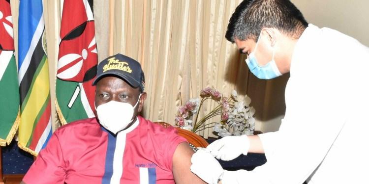 Dp Ruto Vaccinated