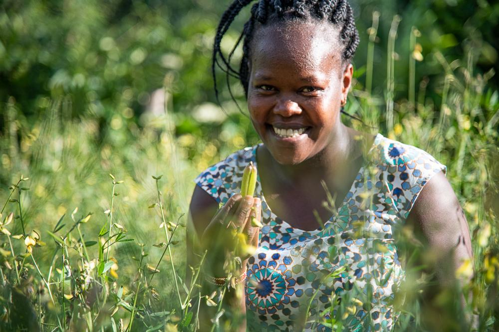 Researcher Lillian Aluso at the  seed bank in Vihiga, Kenya - Bizna Kenya