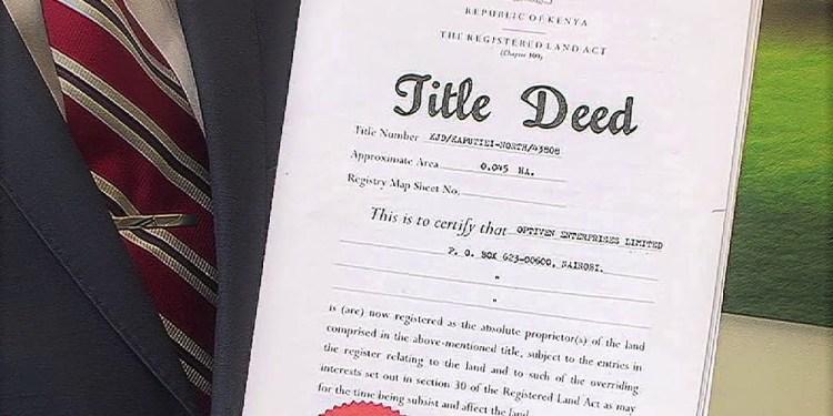 Title Deeds in Kenya