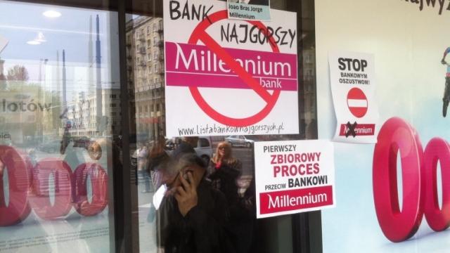 Banksterzy z Millennium nielegalnie wyrzucą na bruk matkę z dwójką dzieci