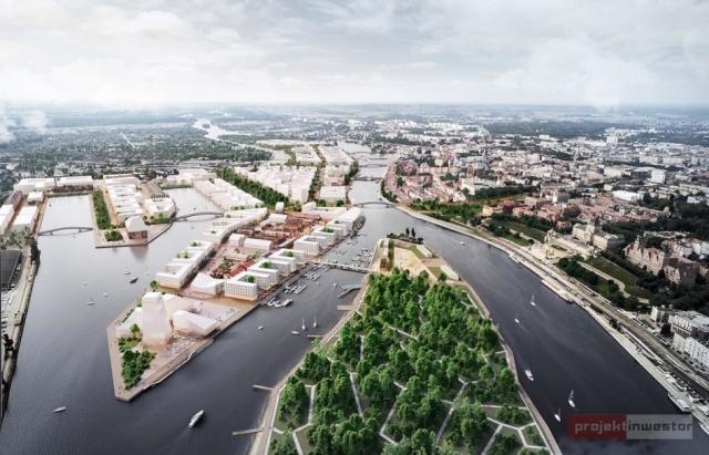 Zagospodarowanie wielkiej wyspy w centrum Szczecina