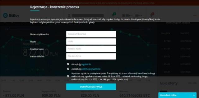bitbay rejestracja