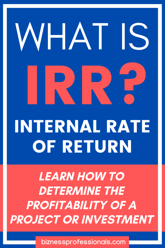 what is irr internal rate of return