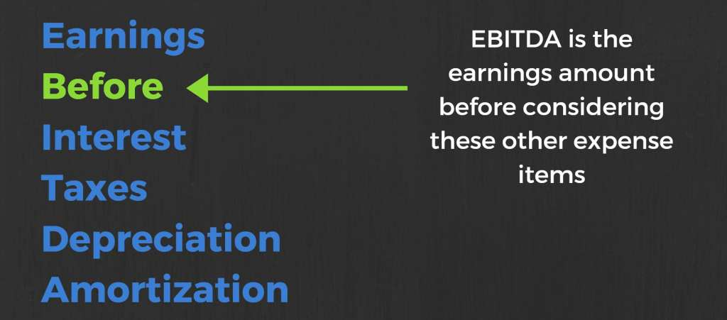 earnings before interest taxes depreciation amortization