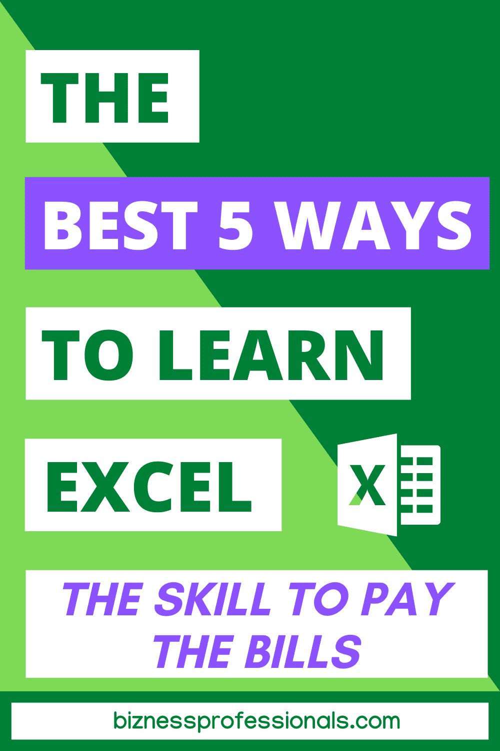 the 5 best ways to learn excel
