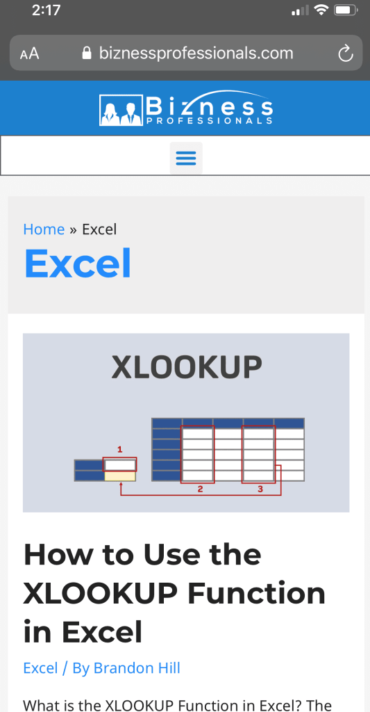 learning excel on blog posts